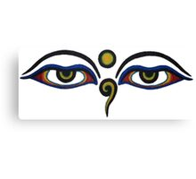 Spiritual All-Seeing Eyes Canvas Print