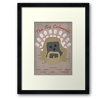 The Big LeBOWLski Framed Print