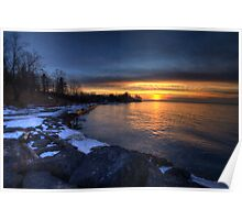 Sunset on Lake Ontario Poster