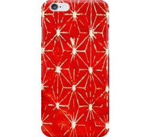 Red Print Pattern - Abstract Stencil Print iPhone Case/Skin
