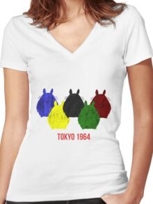 Totoro 1964 Women's Fitted V-Neck T-Shirt