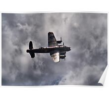 Dambusters 70 Years On - BBMF Lancaster 2 - HDR Poster