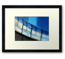Tilt-Shift a MonoRail Blue Framed Print
