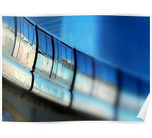 Tilt-Shift a MonoRail Blue Poster
