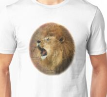 Roaring Lion in Watercolor and Ink Painterly Unisex T-Shirt