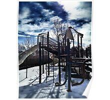 snowy playground Poster