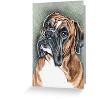 The Boxer Portrait Greeting Card