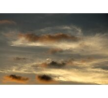water-coloured sky Photographic Print