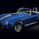  Shelby Cobra 427 Blue with Black Stripe by Marc Orphanos