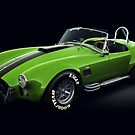 Shelby Cobra 427 Green with Black Stripe by Marc Orphanos