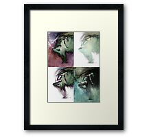 Fount - Drawing with MULTI mood texture Framed Print