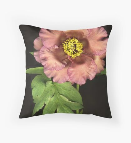 Tree Peony Throw Pillow