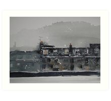Edinburgh Snow 1 Art Print