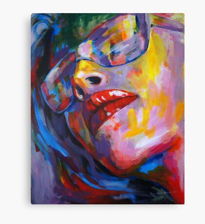 goggled woman Canvas Print