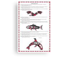 Chinook Litany Poster with Illustrations Canvas Print