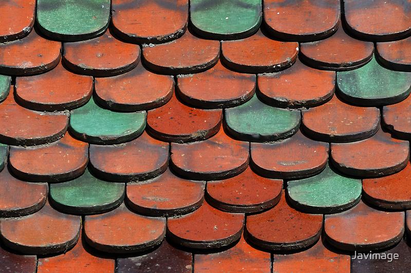 Teal and Tan Tiles by Javimage