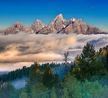 Tetons Above The Clouds by Jerry Patterson
