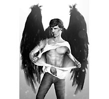 Sexy Benedict Cumberbatch / Winged Sherlock V4 Photographic Print