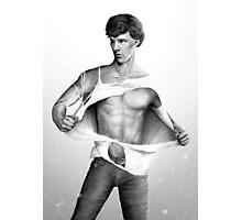 Sexy Benedict Cumberbatch / Sherlock V4 Photographic Print