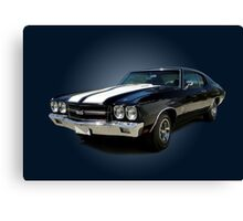 1970 Chevrolet Chevelle SS [on blue] Canvas Print