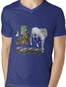 White Unicorn And Friends  Mens V-Neck T-Shirt