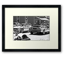 AMC Delorean/GTO JUDGE/Triumph Bonneville all in 1 - Liepers Fork, TN  Framed Print