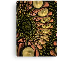 Spider in the wrong web Canvas Print