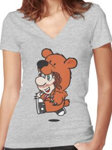 Marioholic Women's Fitted V-Neck T-Shirt