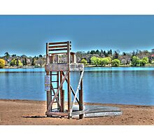 Life Guard Chair Photographic Print