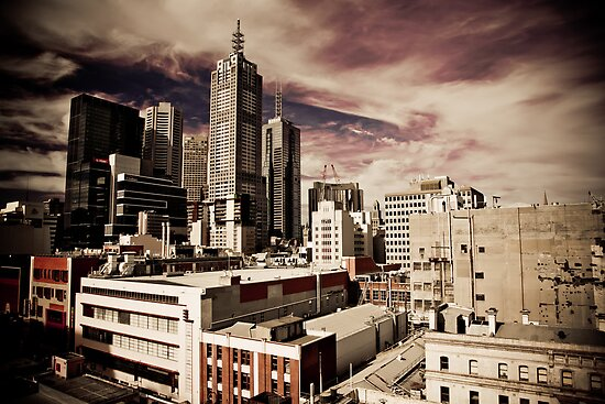 Melbourne from the roof by Andrew Wilson