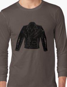 Black Leather Jacket Long Sleeve T-Shirt