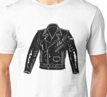 Black Leather Jacket Unisex T-Shirt