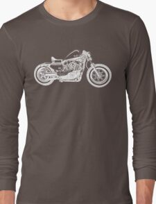 Motorcycle Illustration Long Sleeve T-Shirt
