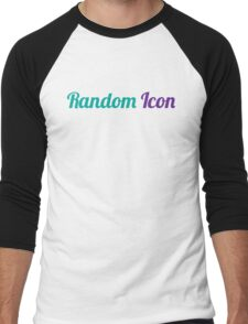Random Icon Grapes Men's Baseball ¾ T-Shirt
