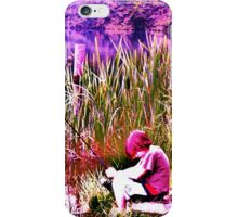 Boy fishing (Bright colors) iPhone Case/Skin