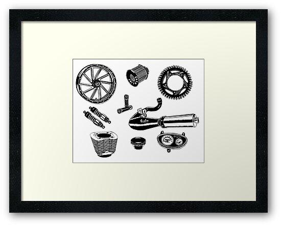 Parts & Accessories Illustration by GASOLINE DESIGN