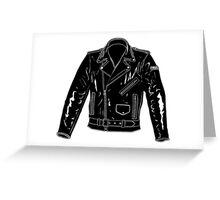 Black Leather Jacket Greeting Card
