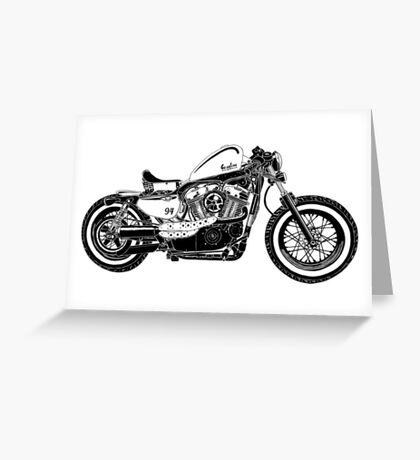 Motorcycle Illustration Greeting Card