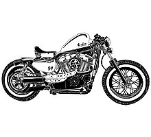 Motorcycle Illustration Photographic Print