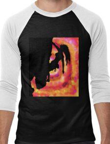 woman rock climbing in the sun Men's Baseball ¾ T-Shirt