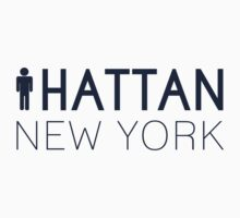 Man hattan Tee - New York - Yankee Blue Lettering by manhattantee