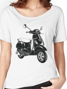 Modern Scooter Illustration Women's Relaxed Fit T-Shirt