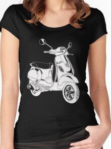 Modern Scooter Illustration Women's Fitted Scoop T-Shirt