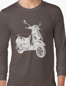 Modern Scooter Illustration Long Sleeve T-Shirt