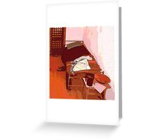 Cot in Disarray Greeting Card