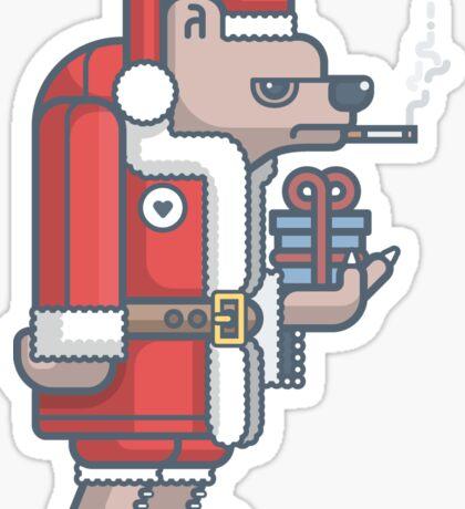 Grumpy Christmas Bear Sticker
