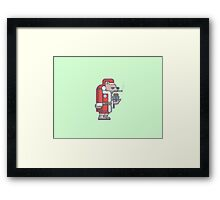 Grumpy Christmas Bear Framed Print