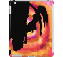 woman rock climbing in the sun iPad Case/Skin
