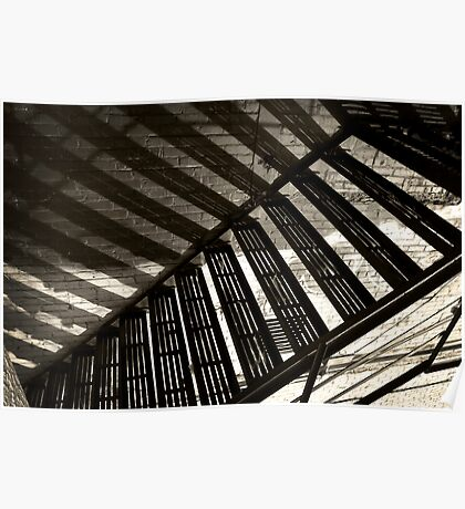 Stairs Shadows Poster