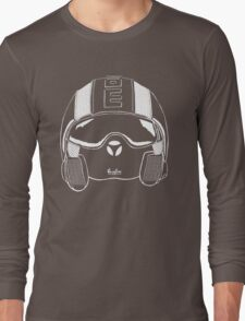 Helmet Illustration Long Sleeve T-Shirt